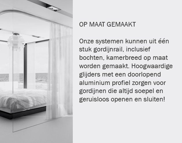 Gordijnrails - Goelst G-rail, elegante & luxe gordijnrail - Goelst.nl