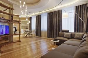 Elektrische gordijnrails in een woning